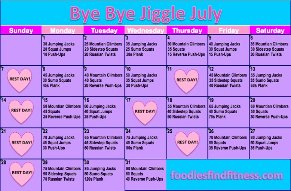 JULY FITNESS CHALLENGE